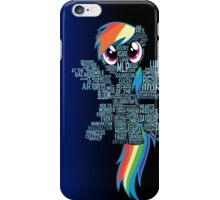 Rainbow Dash Typography iPhone Case/Skin