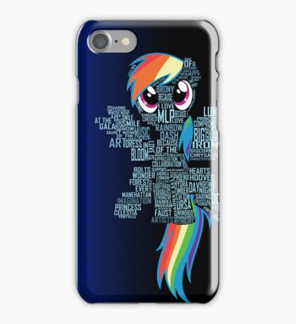 Rainbow Dash Typography iPhone Case/Skin