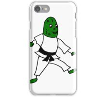 Funny Cool Pickle Doing Karate iPhone Case/Skin