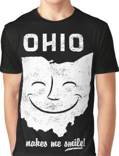 Ohio Makes Me Smile! Cool Vintage Retro Tee Graphic T-Shirt