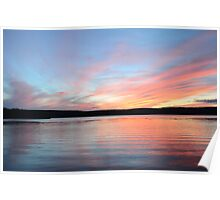 Sunset in the North Woods Poster