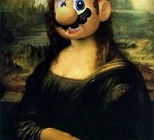 Mario/Mona Lisa by Lutubert