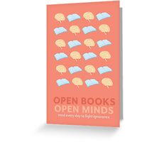 Open Books, Open Minds (2) Greeting Card