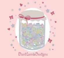 Kawaii Star Candy Jar by DaniLambDesigns