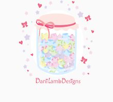 Kawaii Star Candy Jar Womens Fitted T-Shirt