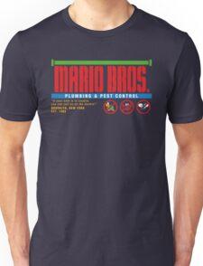 Mario Bros. Plumbing & Pest Control (colour) Unisex T-Shirt