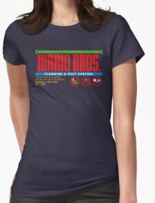 Mario Bros. Plumbing & Pest Control (colour) Womens Fitted T-Shirt