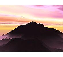 Mountain Silhouette Photographic Print