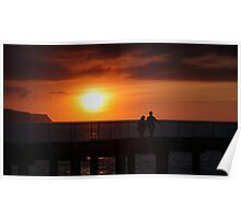 Whitby Sunset (3) Poster
