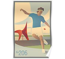 Footbag at Olympic Sculpture Park Poster