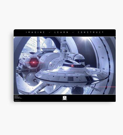 IXS Enterprise in Spacedock Canvas Print