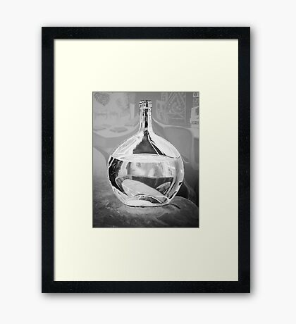 Reflecting on a distortion - black and white Framed Print