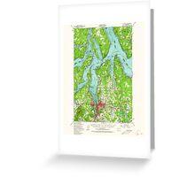 USGS Topo Map Washington State WA Olympia 242944 1949 62500 Greeting Card