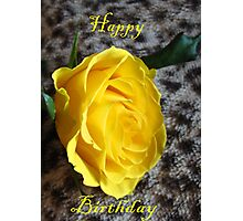Yellow Rose card  Photographic Print