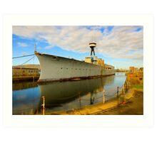 HMS Caroline Art Print