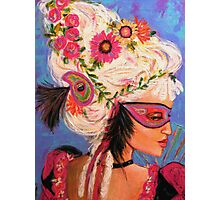 THE PINK MASKED SPY Photographic Print