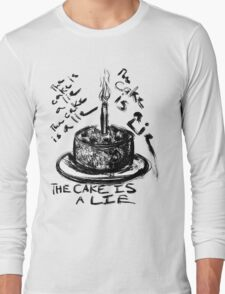 The Cake is a Lie Long Sleeve T-Shirt