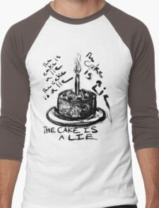 The Cake is a Lie Men's Baseball ¾ T-Shirt