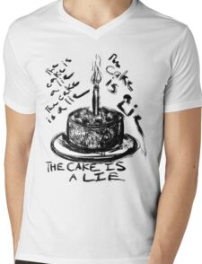 The Cake is a Lie Mens V-Neck T-Shirt