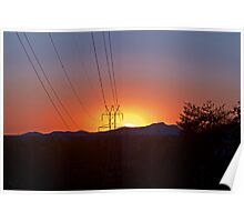 Crowders Mountain Sunset Poster