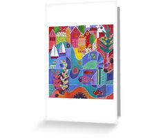 Water Front Village Greeting Card