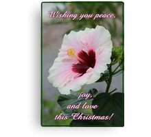 Peace, Love and Joy Christmas Card and Gifts Canvas Print