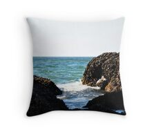 Rocky Waves Throw Pillow