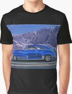 Custom Blue Street Rod at the Glacier in Whistler Graphic T-Shirt