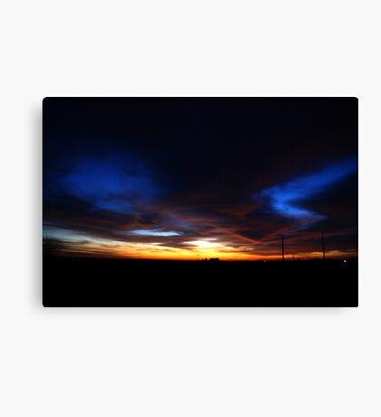 Halloween Sunset Sky 2012 Canvas Print