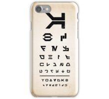 Aurebesh Eye Chart iPhone Case/Skin