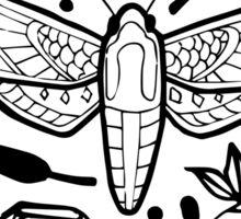 Moth Collage Sticker