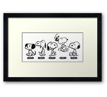 Snoopy Evolution! Framed Print