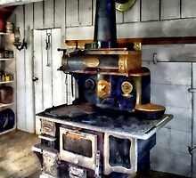 Coal Stove in Kitchen by Susan Savad