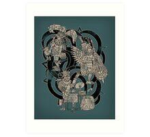 Ancient Jazztecs Art Print