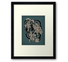 Ancient Jazztecs Framed Print