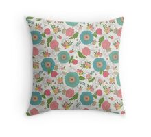 Marseille floral pattern Throw Pillow