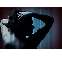 Girl Silhoutte Photographic Print