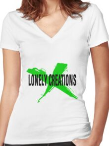 LC BLACK X GREEN Women's Fitted V-Neck T-Shirt