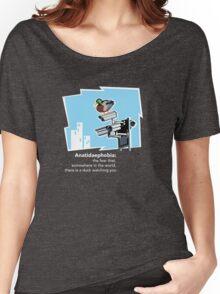 Anatidaephobia (dark background) Women's Relaxed Fit T-Shirt