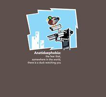 Anatidaephobia (dark background) Unisex T-Shirt