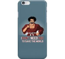 Mister Satan save the World iPhone Case/Skin