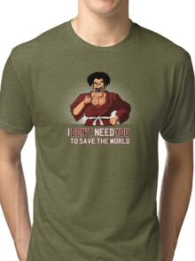 Mister Satan save the World Tri-blend T-Shirt