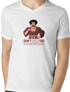 Mister Satan save the World Mens V-Neck T-Shirt