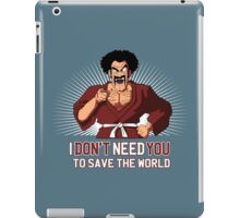 Mister Satan save the World iPad Case/Skin