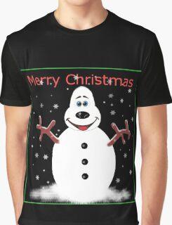 Merry Christmas Snooooman Graphic T-Shirt