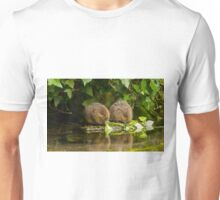 Two baby Water voles feeding Unisex T-Shirt