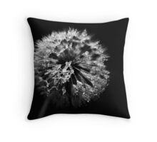 Dandelion in Monochrome Throw Pillow