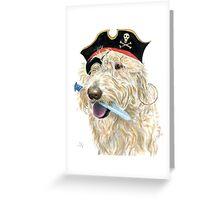 Pirate Labradoodle Greeting Card