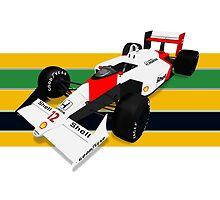 Ayrton Senna - McLaren MP4/4 by JageOwen