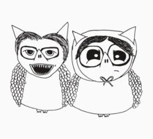 Are you local? Edward and Tubbs Owls by annieclayton
